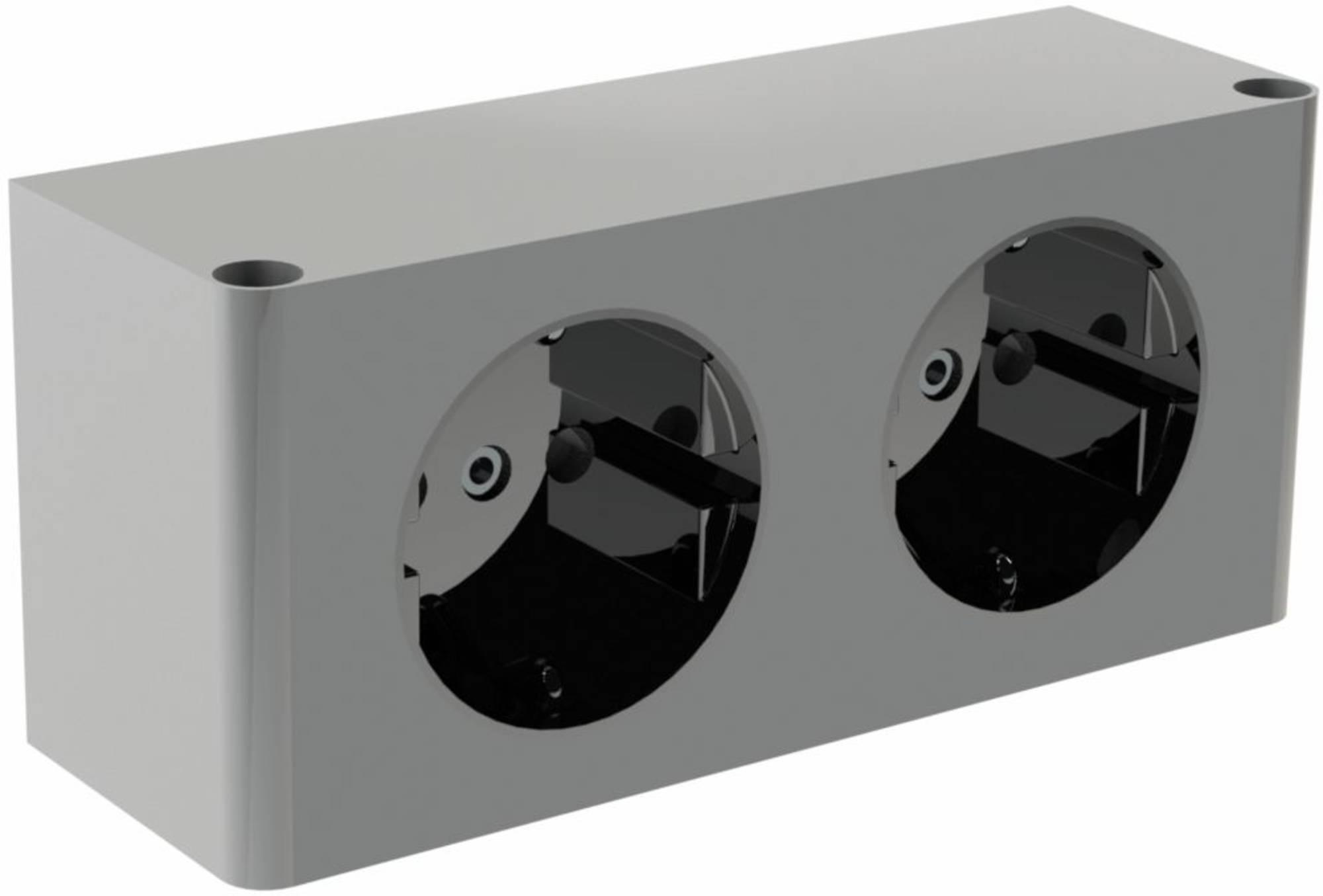 Thebalux Dubbel Stopcontact Voor Spiegelkast Grijs Saniweb Nl