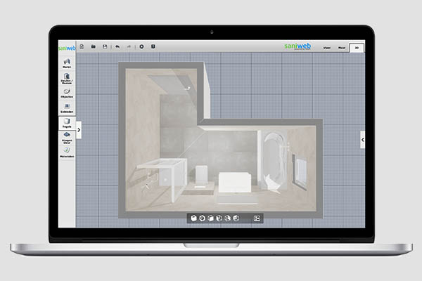 Badkamer 3D ontwerptool - Saniweb.nl